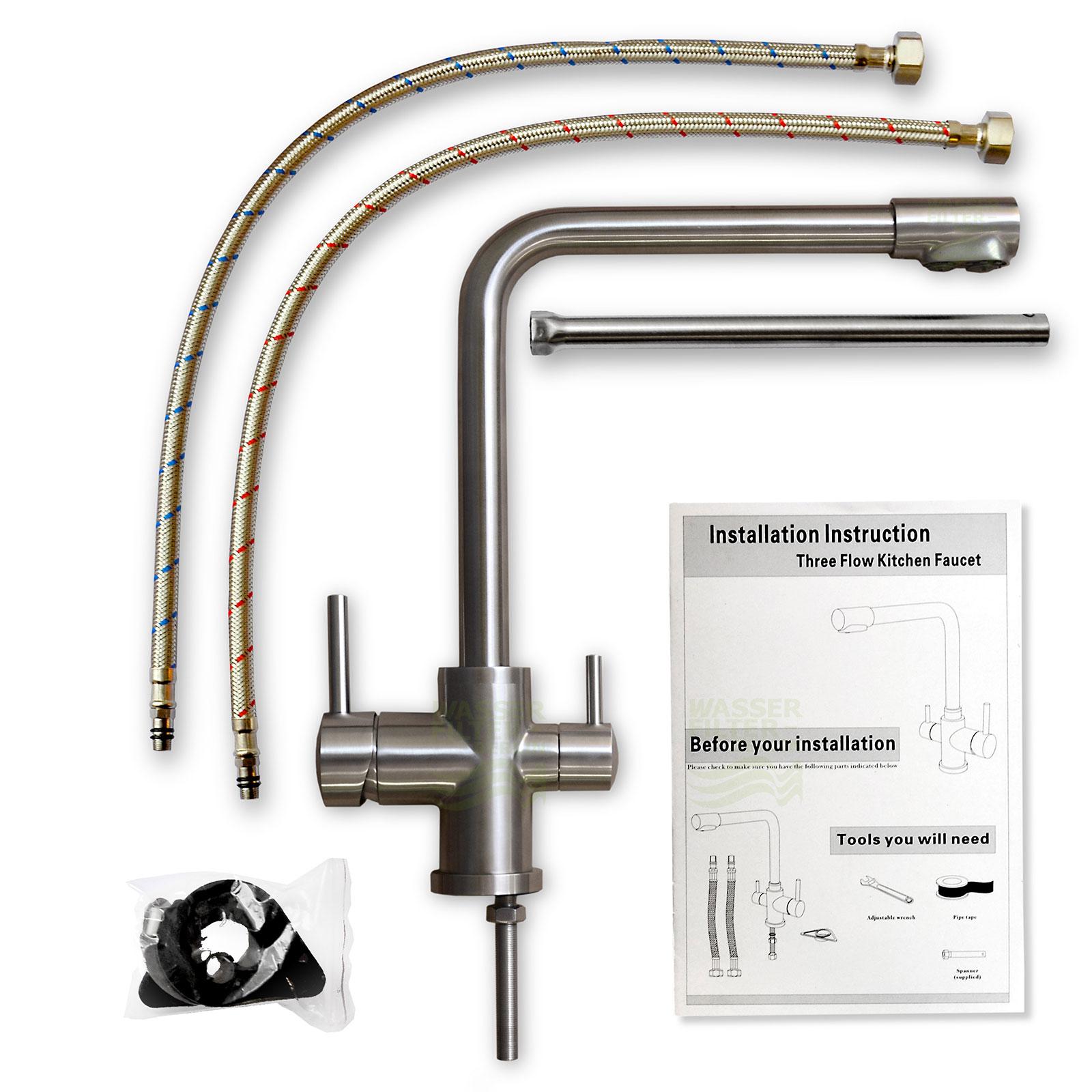 nanovita Trinus 3-wege-Wasserhahn Lieferumfang