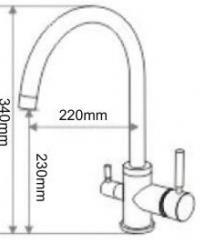 Drei-Wege-Wasserhahn Toledo SK 3306