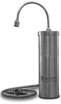 Auftisch-Wasserfilter Carbonit Inox  für sauberes Wasser
