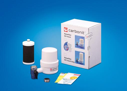 Carbonit Reisewasserfilter GO Travel, sauberes Trinkwasser für Unterwegs