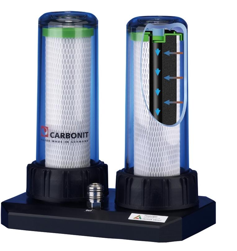 Doppel-Wasserfilter Duo und Duo Kalk von Carbonit