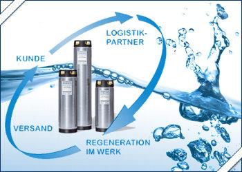 Vollentsalzung Demineralisierung mit Regenerationsservice