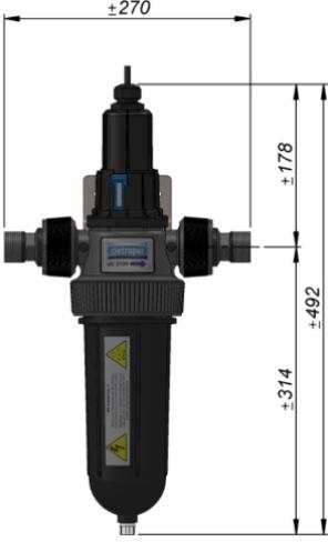 Cintropur UV 2100 und UV 4100 Maße