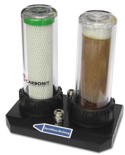 Carbonit Duo Kalk Enthärtung und Filtration in einem Gehäuse