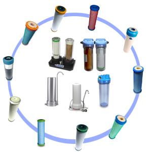 Slimline-Wasserfilter Filterpatronen von Carbonit oder Pentair