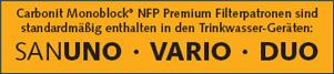 NFP Premium Verwendung, Sanuno, Vario, Purix, Varix