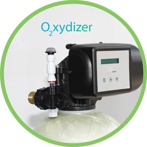 Der Oxydizer entfernt Eisen, Mangan und Schwefelwasserstoff