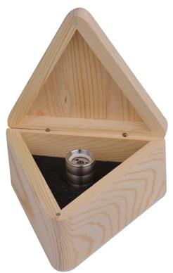 Wasserwibler Piccolo im offenen Holzkasten