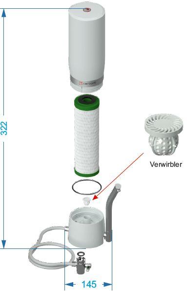 Auftisch-Wasserfilter Sanuno Grande